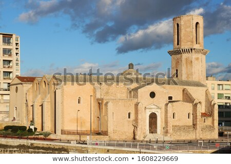 Church Saint Laurent from 12th century in Marseille, France Stock photo © meinzahn