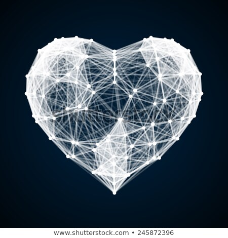 modern heart made from triangles stock photo © orson