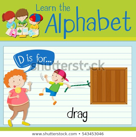 Flashcard letter D is for drag Stock photo © bluering