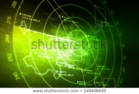 зеленый радар экране белый вектора компьютер Сток-фото © BoogieMan
