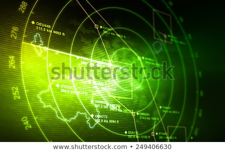Foto stock: Verde · radar · tela · branco · vetor · computador