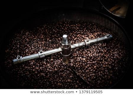 Grãos de café grão de café fundo café cor movimento Foto stock © Frankljr