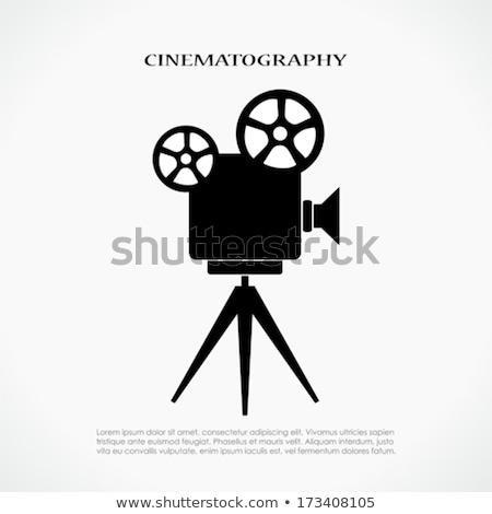 vieux · antique · caméra · vidéo · blanche · technologie · fond - photo stock © kidza
