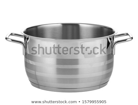 Cooking pot with silver lid isolated on white Stock photo © kayros