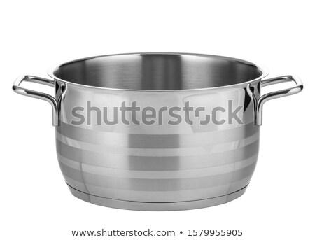 panela · isolado · metal · cozinhar · cozinhar · pote - foto stock © kayros