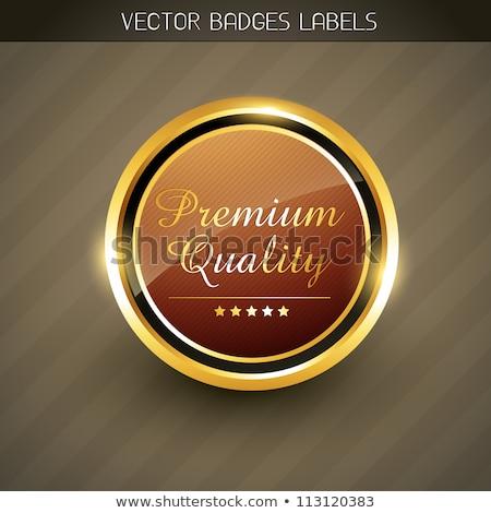 Best Genuine Quality Beautiful Golden Badge Label Stockfoto © PinnacleAnimates