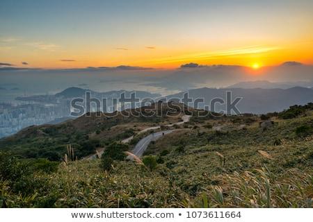 美しい · 山 · 風景 · 太陽 · 日の出 · 空 - ストックフォト © cozyta