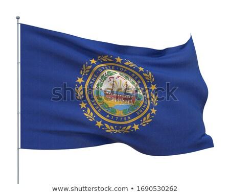 Stock fotó: USA · New · Hampshire · zászló · fehér · 3d · illusztráció · textúra