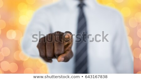 Composite image of businessman pointing foto stock © wavebreak_media