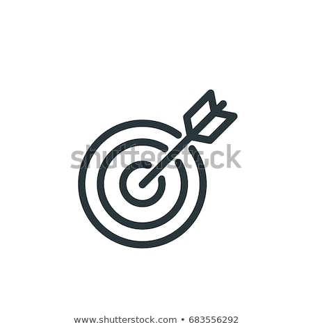 Pictograph Target Icon Isolated on White Stock photo © robuart