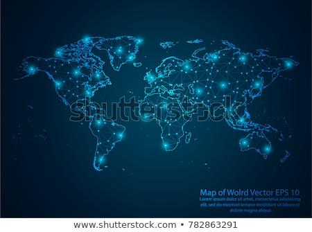 laag · wereld · aarde · kaart · abstract · vector - stockfoto © -baks-