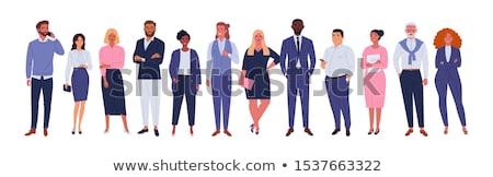 üzletemberek csoport vektor globális kommunikáció üzlet nők Stock fotó © -Baks-