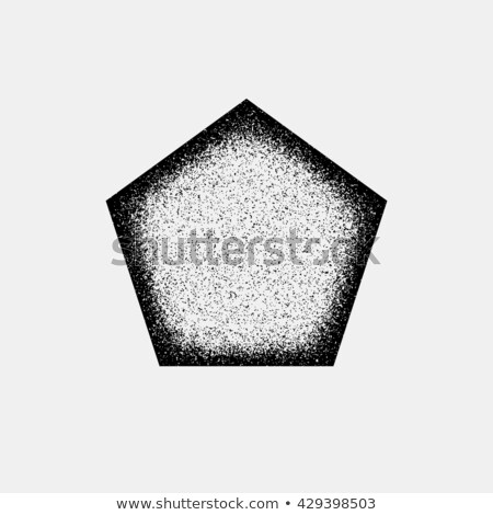 White Grain Polygon Badge Stock photo © molaruso