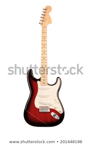 Red Elecric Guitars Stock photo © Bigalbaloo