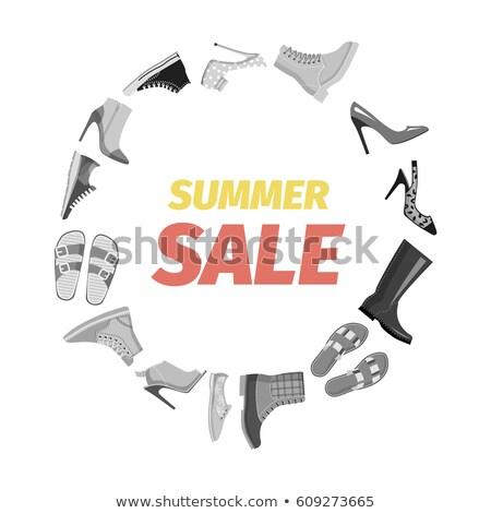 Summer Sale Advertisement Banner Vector. Footgear Stock photo © robuart