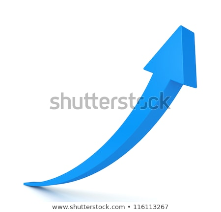 blue arrow isolated with white background stock photo © tang90246