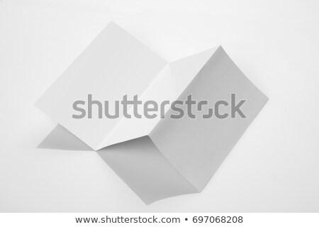 サイズ 折られた 紙 文書 パンフレット ストックフォト © Akhilesh