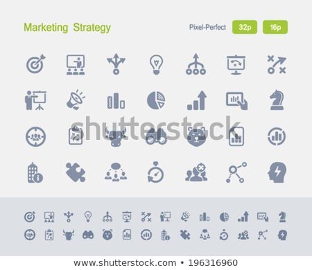 Marketing Strategy - Granite Icons stock photo © micromaniac