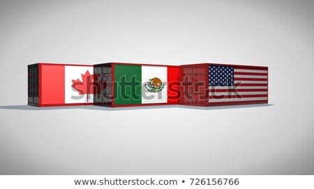 USA · Canada · handel · symbool · twee · Rood - stockfoto © lightsource