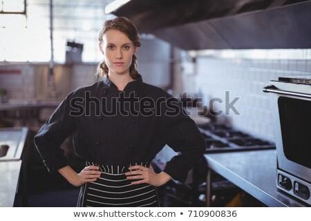 Portré fiatal női barista áll kezek Stock fotó © wavebreak_media