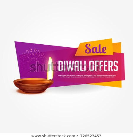 diwali offer and sale voucher design with vibrant colors stock photo © sarts