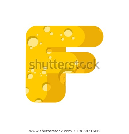буква f сыра шрифт символ алфавит молочная Сток-фото © popaukropa