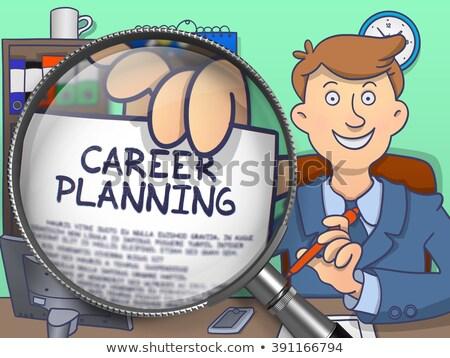career planning through magnifier doodle concept stock photo © tashatuvango