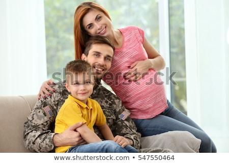 Soldado embarazadas esposa Pareja familia Foto stock © stevanovicigor