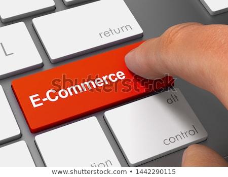 kéz · ujj · sajtó · üzlet · ötlet · kulcs - stock fotó © tashatuvango