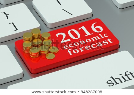 2016 Economic Forecast CloseUp of Keyboard. Stock photo © tashatuvango