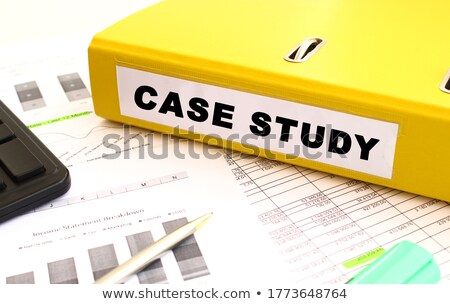 yellow office folder with inscription work study stock photo © tashatuvango