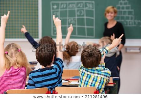 Stock foto: Chulkinder · und · ihr · Lehrer · in · einer · Oberschulklasse