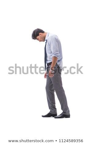 Zakenman geïsoleerd witte geld werk Stockfoto © Elnur