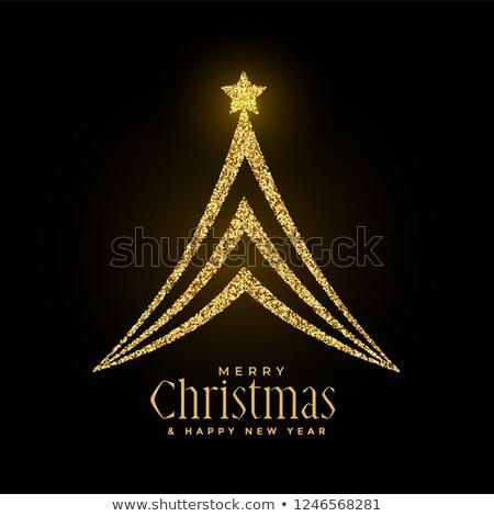glowing sparkles christmas tree premium design Stock photo © SArts