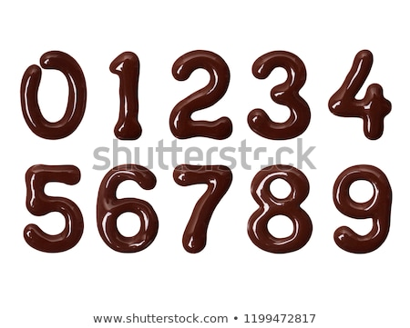 Number 2 Chocolate font. Sweetness numeral two alphabet. Liquid  Stock photo © MaryValery