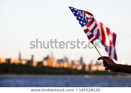 American flag during Independence Day on the Hudson River with a view at Manhattan - New York City ( Stock photo © jeewee