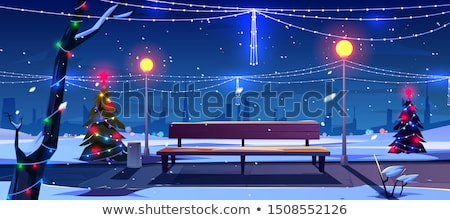 Public bin at night Stock photo © IS2