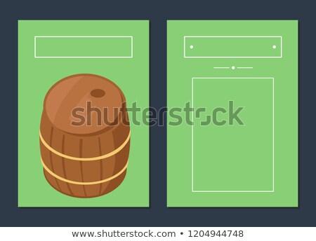 Bois baril affiches texte Photo stock © robuart