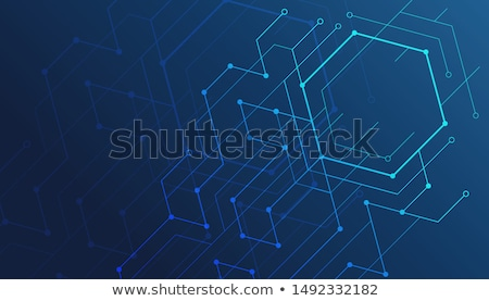 Stock photo: digital technology background with high tech network lines