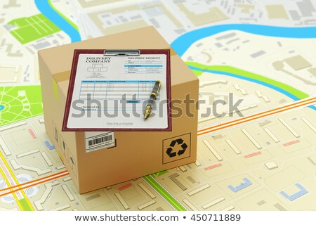 clipboard with express delivery concept stock photo © tashatuvango