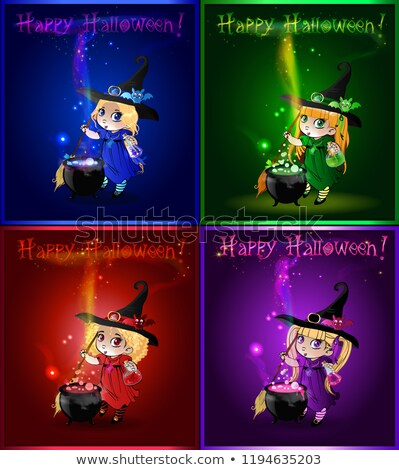 Wizard Cauldron Cartoon  Stock photo © Krisdog