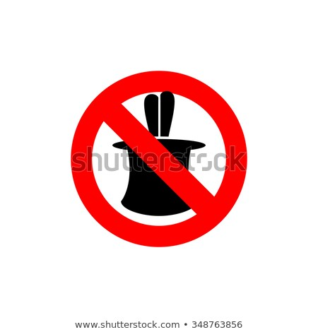 Stop tricks. Ban  to do magic tricks. Frozen cylinder with Hare. Stock photo © popaukropa