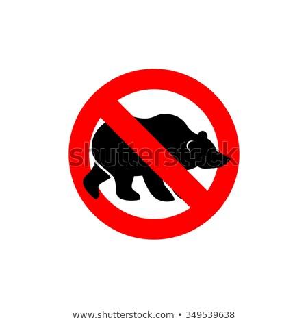 остановки несут животного силуэта заморожены Сток-фото © popaukropa