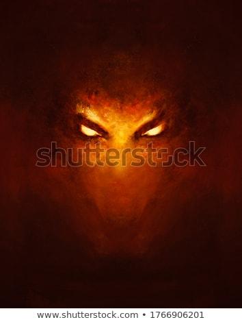 nero · Dragon · tribali · tattoo · stile · silhouette - foto d'archivio © sifis