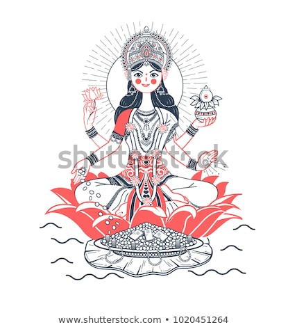 Lakshmi on a lotus in a flat style Stock photo © Olena