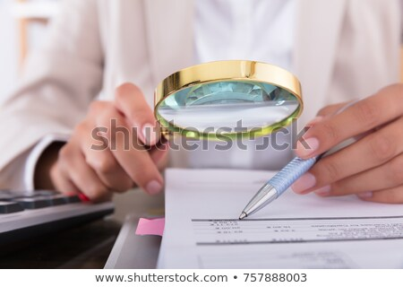 Bill · calculator · huis · model · bureau - stockfoto © andreypopov