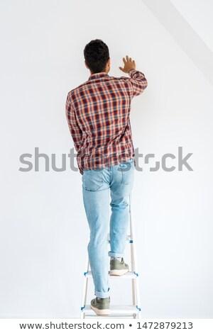 человека Постоянный лестнице стали работу Сток-фото © AndreyPopov