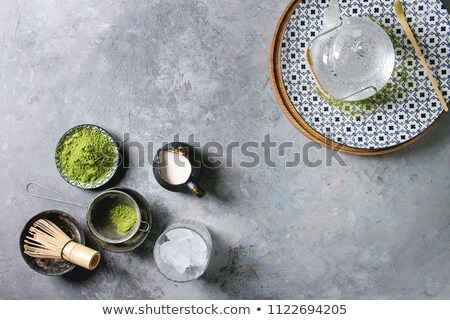 Ghiacciato tè congelato tè verde latte Foto d'archivio © BarbaraNeveu