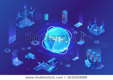 Wireless network isometric 3D icon Stock photo © studioworkstock