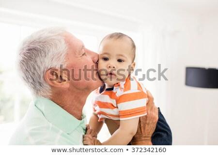 Grand-père bébé petit-fils homme Homme cute Photo stock © IS2